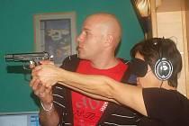 MČR nevidomých a slabozrakých ve střelbě laserovou pistolí na terč v Přerově