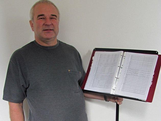 František Tkadlec, umělecký vedoucí Dechového orchestru Haná