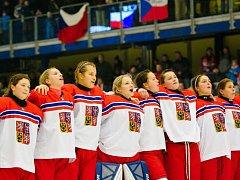 Česko - Japonsko. MS hokejistek do 18 let v Přerově
