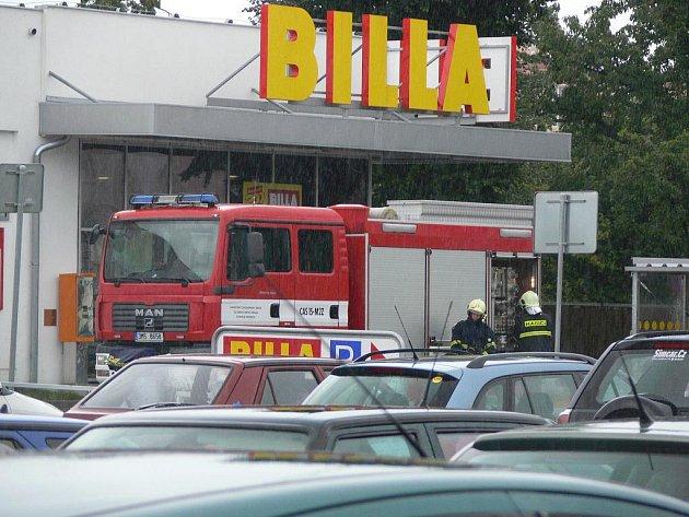 Požár elektroinstalace v hranické Bille