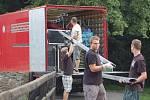Přípravy na koncert Jethro Tull na Helfštýně