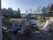 Nová tenisová hala v Přerově těsně před dokončením