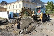 Počátek stavby cyklodomu v blízkosti přerovského nádraží