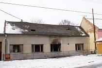 Požár neobydleného domu v Polkovicích
