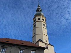 Opravená Spanilá věž na zámku v Tovačově