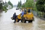 Zaplavené Troubky, 18. května 2010 odpoledne