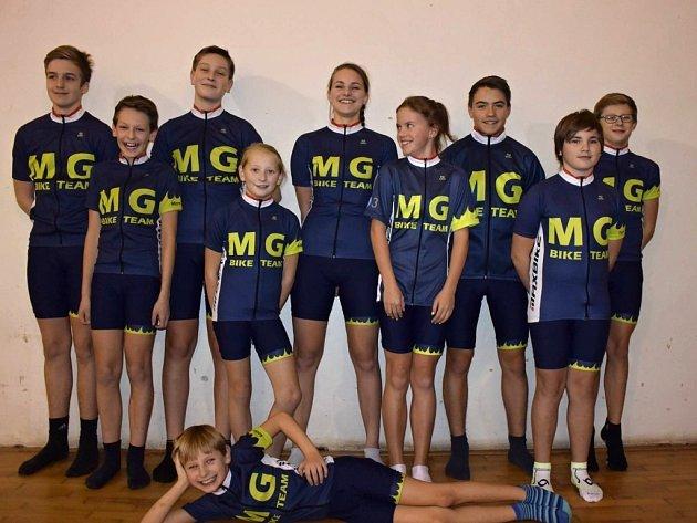 Přerovský mládežnický cyklistický oddíl MG Bike Team.