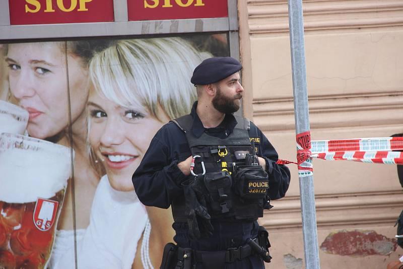 Zásah policie kvůli anonymní výhružce bombou. Ilustrační foto.