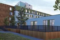 Vizualizace Domova Alzheimer, který vznikne přestavbu budovy bývalého Chemoprojektu
