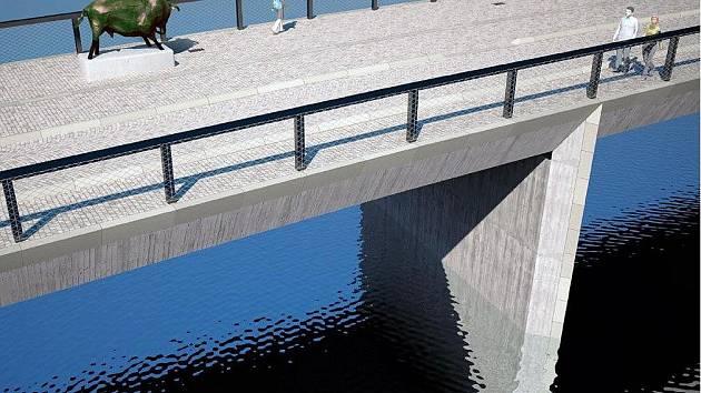 Vizualizace nové podoby Tyršova mostu v Přerově
