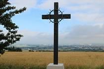 Pietní místo na Švédských šancích s kovaným křížem