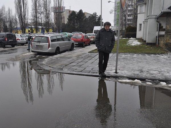 Tání sněhu vPřerově