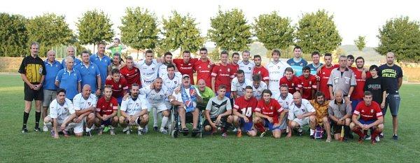 FK Spartak Lipník nad Bečvou společně se starou gardou Baníku Ostrava.