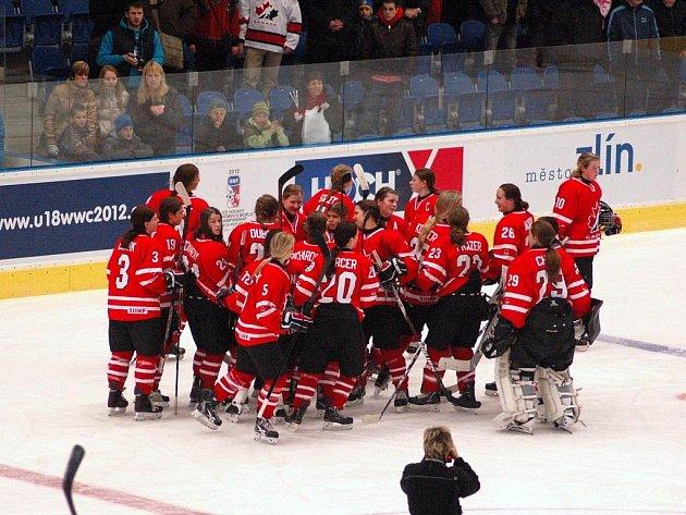 Hokejové MS žen do 18 let v Přerově - Kanaďanky