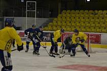 Hokejisté Přerova se po dlouhé koronavirové přestávce vrátili na led Meo Arény.