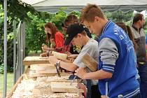 Tradiční výstava v Tovačově láká veřejnosti už několik let. Práci s dlátem si tu může vyzkoušet každý.
