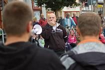 Na náměstí TGM v Přerově probíhalo v sobotu 21. září shromáždění, které pořádali stoupenci krajně pravicového uskupení Čeští lvi.