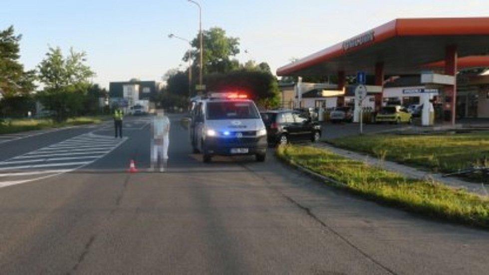 Řidička hyundaie srazila v Přerově cyklistu,. 3.8. 2021