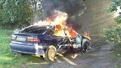 Požár auta v Prosenicích