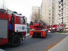 V bytě v šestém patře panelového domu v Přerově-Předmostí hořelo