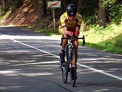 Přerovský cyklista David Babiánek při časovce MČR 2016 v Bystrém
