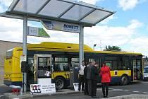 Plynová čerpací stanice pro ekologické autobusy městské dopravy v Přerově