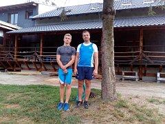 Kojetínský kanoista Jiří Minařík (vlevo) a trenér Aleš Zendulka.