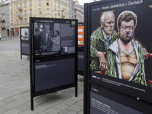 Výstava o korupčních kauzách. Ilustrační foto