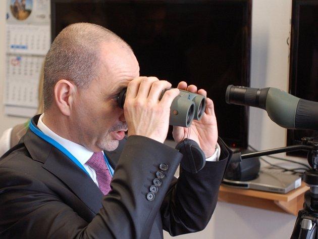 Návštěva ministra průmyslu a obchodu Martina Kuby (ODS) v přerovské Meoptě