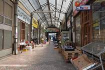 Zchátralá pasáž mezi Kratochvílovou a Palackého ulicí v Přerově
