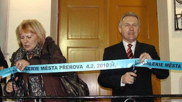 Otevření nové galerie města Přerova v bývalé stolárně přerovského zámku