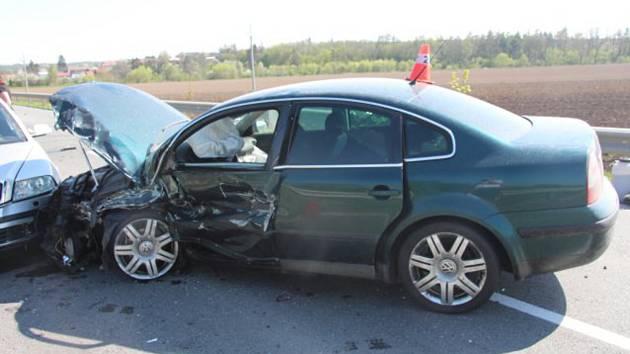 Nehoda na silnici mezi Želatovicemi a Prusy na Přerovsku