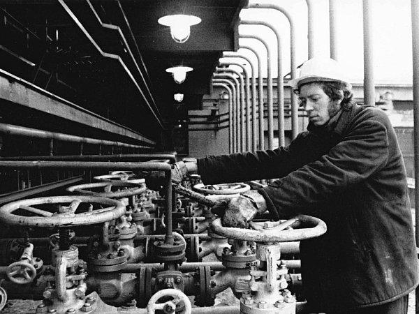 Otevření plynového zásobníku vLobodicích vroce 1965