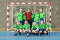 Úspěšné futsalové družstvo dívek ZŠ Za mlýnem.