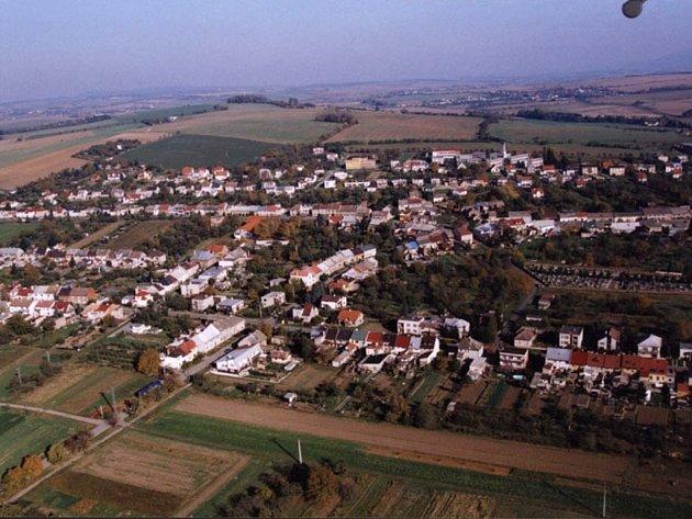 Horní Moštěnice - letecký pohled