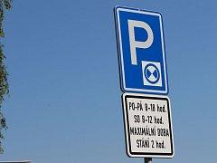 Na několika místech v Přerově lze parkovat jen s parkovacími kotouči