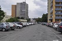Přerovské sídliště v ulici Trávník