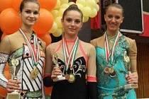 Moderní gymnastky Spartaku braly v Maďarsku osm medailí