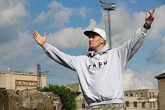 Na snímku Petr Ceh alias JaPh, zakladatel hip-hopového uskupení RadioBlunt.