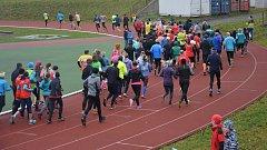 38. ročník Běhu 17. listopadu v Přerově. Start hlavního závodu