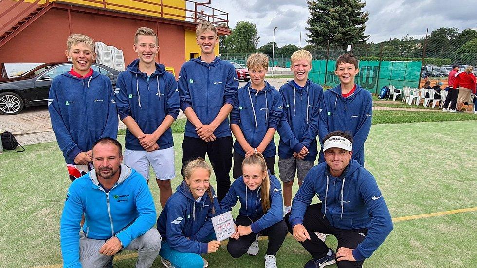 Družstvo starších žáků na mistrovství republiky