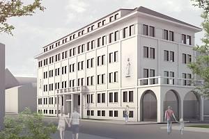 ak by měl po rekonstrukci vypadat bývalý armádní objekt v Čechově ulici 43 v Přerově.