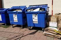 Přerov dlouhodobě zápasí s černými skládkami - hitem hříšníků jsou v poslední době papírové krabice, které se povalují u popelnic