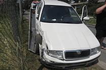 Následky nehody v Čekyni