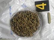 Kriminalisté našli při domovní prohlídce podezřelých pachatelů sušené rostliny konopí setého.