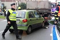 Opilá řidička daewoo havarovala v Palackého ulici v Přerově