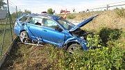 Srážka Volkswagenu Polo a octavie u Horní Moštěnice