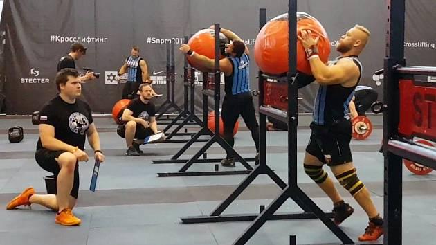 Jiří Tkadlčík na světovém šampionátu v crossliftingu v Moskvě