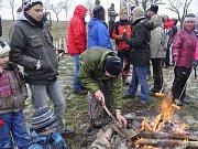 Novoroční výstup na Čekyňský kopec. Ilustrační foto