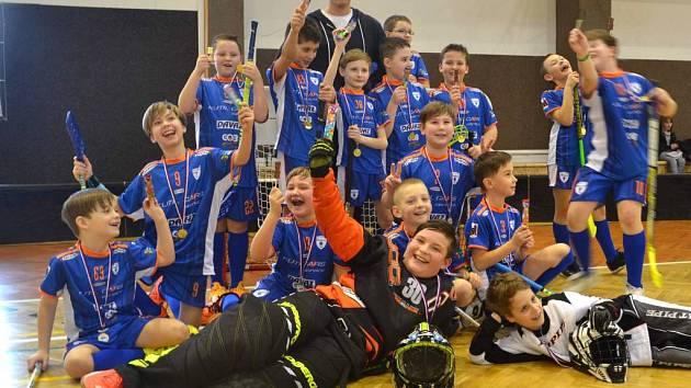 Elévové florbalistů Spartaku Přerov na turnaji v Mohelnici